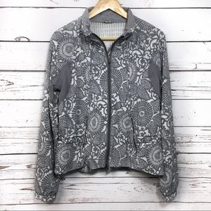 Lululemon | track to travel jacket | floral zipup